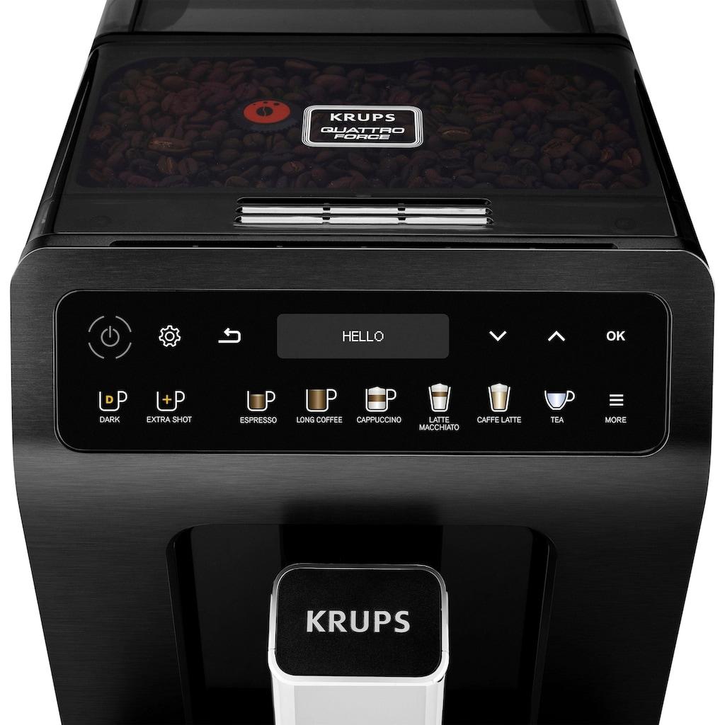 Krups Kaffeevollautomat EA8948 Evidence Plus One-Touch-Cappuccino, 2,3l Tank, Kegelmahlwerk