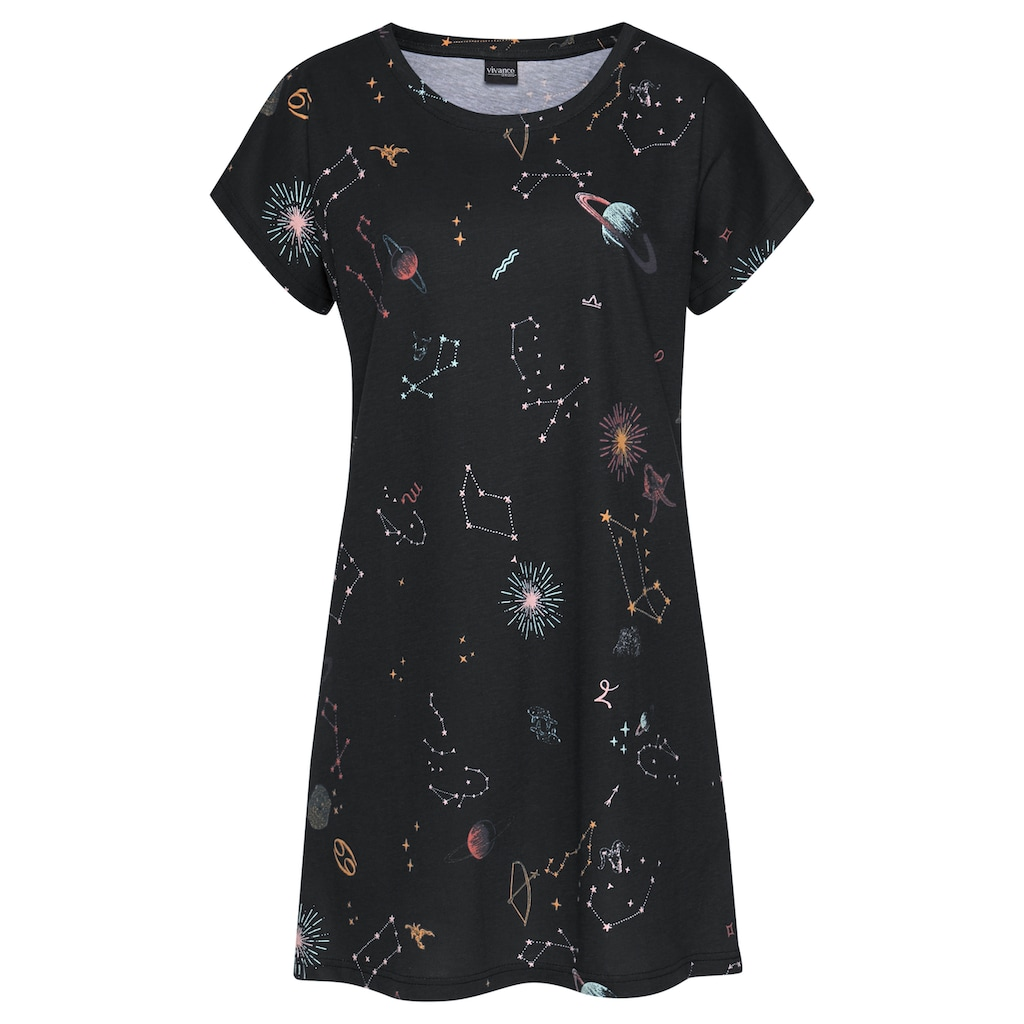 Vivance Dreams Sleepshirt, mit Galaxy-Muster