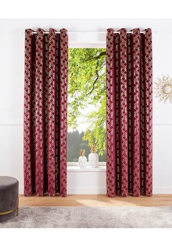Vorhang, »Velvet Foil«, my home, Ösen 1 Stück kaufen