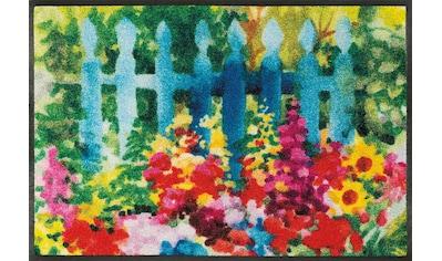 wash+dry by Kleen-Tex Fußmatte »Mare di fiori«, rechteckig, 7 mm Höhe, Schmutzfangmatte kaufen