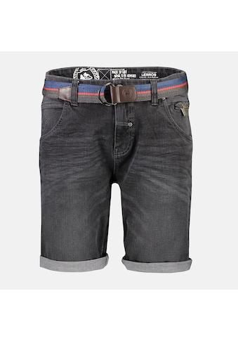 LERROS Bermudas »Grey Denim«, mit Gürtel kaufen