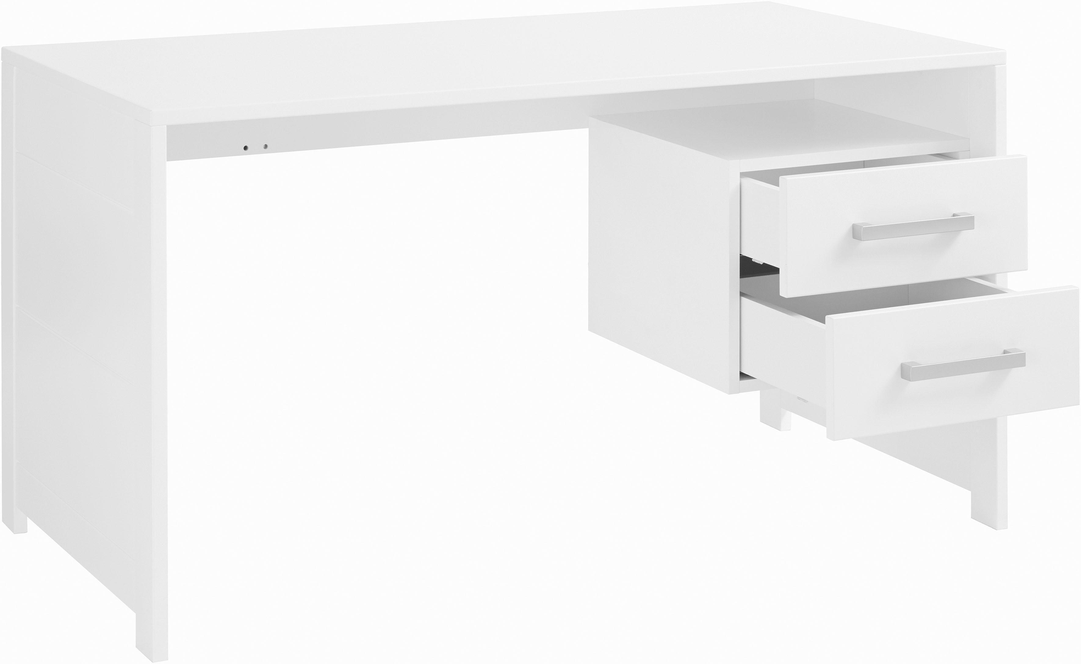 INOSIGN Schreibtisch Style aus schönem weiß/lackiertem Holz mit viel Stauraum Breite 137 cm