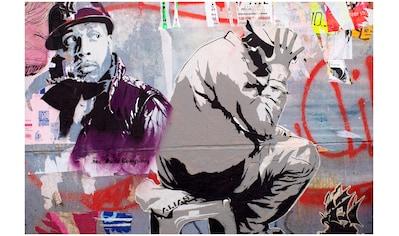Art & Pleasure Metallbild »Street artist«, Menschen kaufen