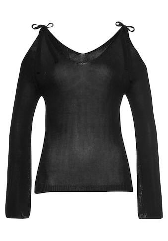 LASCANA Strickpullover, mit Cold-Shoulder-Detail kaufen