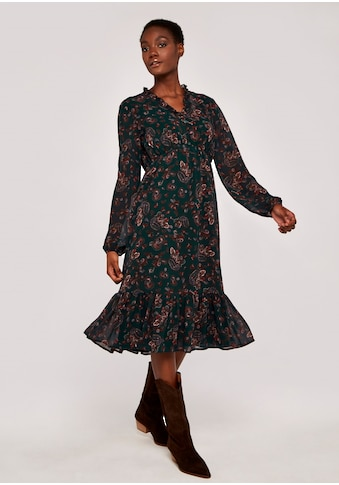 Apricot Druckkleid »Paisley Ruffle Midi Dress«, mit Rüschen kaufen