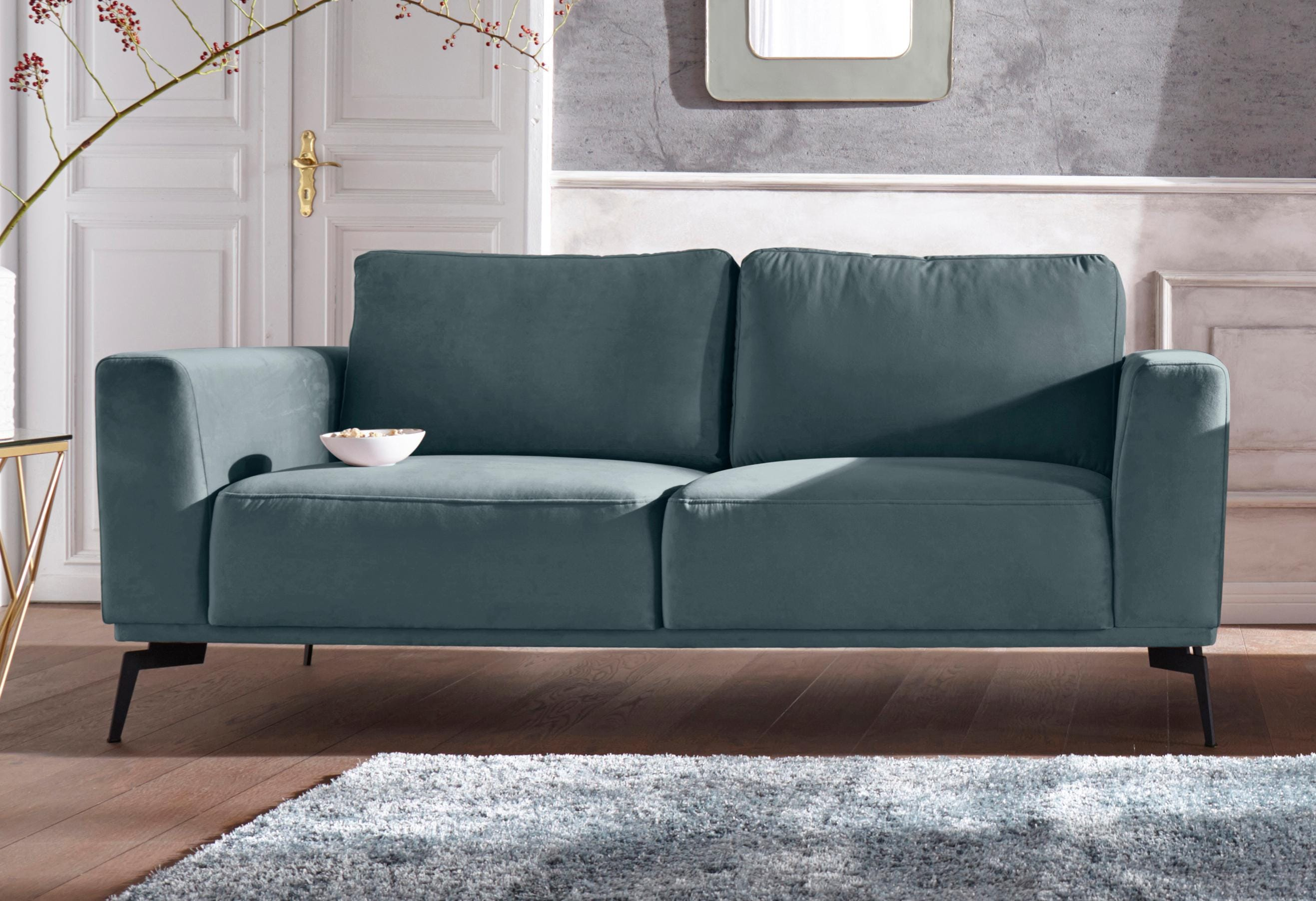 GMK Home & Living 2-Sitzer »Nantes« in wunderschönem Design, ungewöhnliche Metallbeine