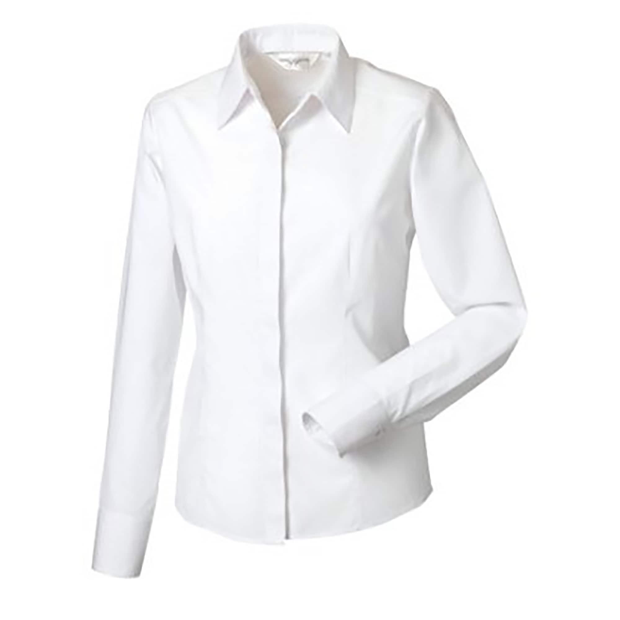 russell -  Langarmbluse Collection Popelin Bluse / Hemd, Langarm, pflegeleicht, tailliert