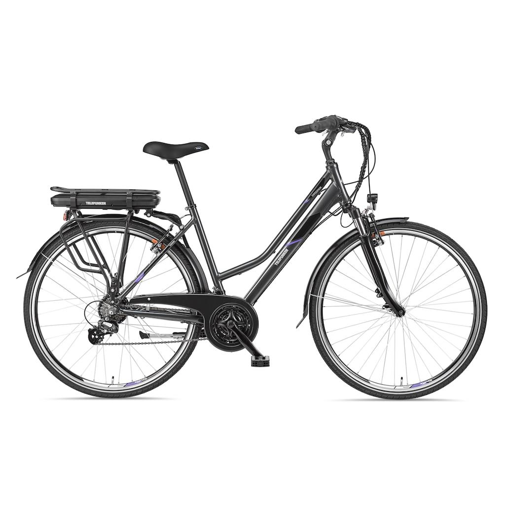 Telefunken E-Bike »Expedition XT480«, mit Fahrradtasche