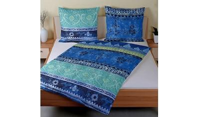 TRAUMSCHLAF Bettwäsche »Indi blau«, orientalisches Design mit seidigem Glanz kaufen