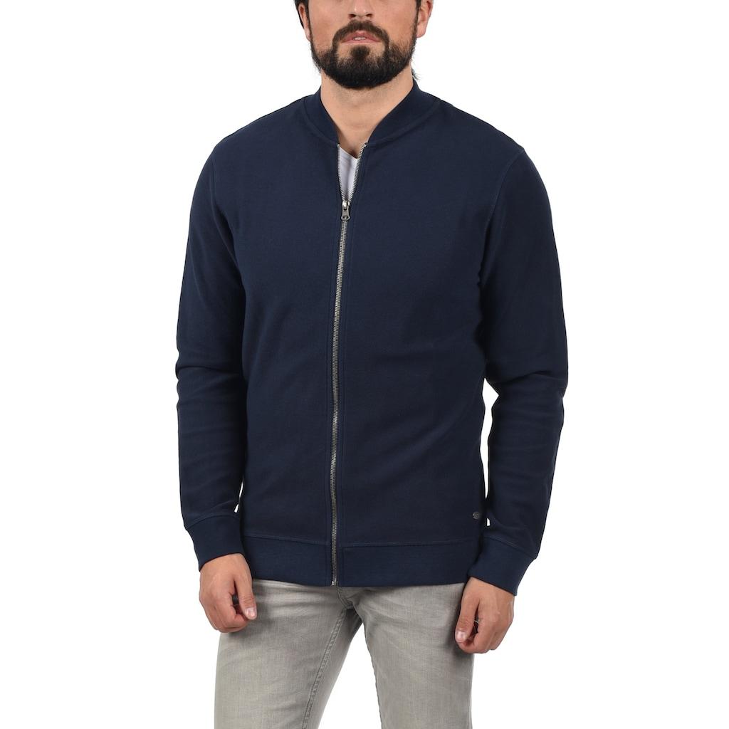 Blend Sweatjacke »Frank«, Collegejacke mit hochwertiger Baumwollstruktur