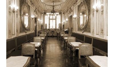 Papermoon Fototapete »Vintage Cafe Interieur«, Vliestapete, hochwertiger Digitaldruck kaufen