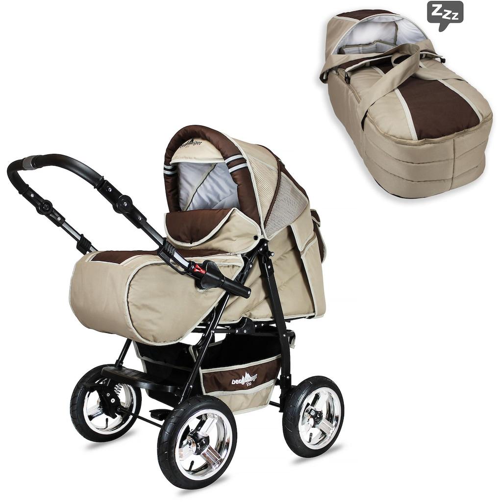 bergsteiger Kombi-Kinderwagen »Rio, beige circles, 3in1«, mit Lufträdern; Made in Europe; Kinderwagen