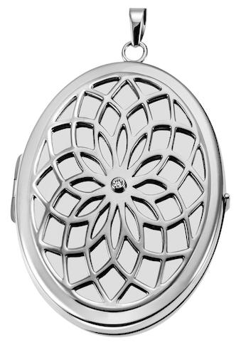 Firetti Medallionanhänger »Blumenmuster, glänzend, matt und rhodiniert«, mit Zirkonia kaufen