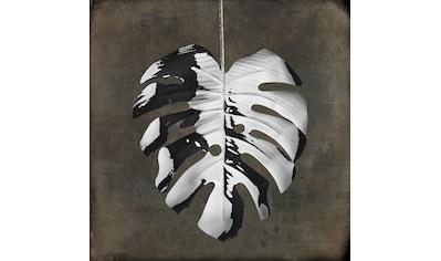 queence Holzbild »Milo«, Blätter, (1 St.) kaufen
