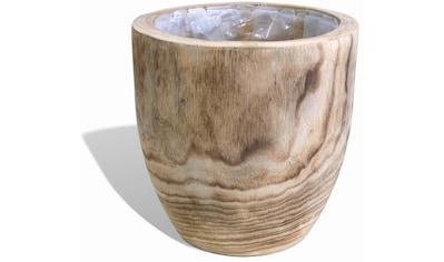 Franz Müller Flechtwaren Pflanzschale »Ligno«, aus Holz, mit Innenfolie kaufen