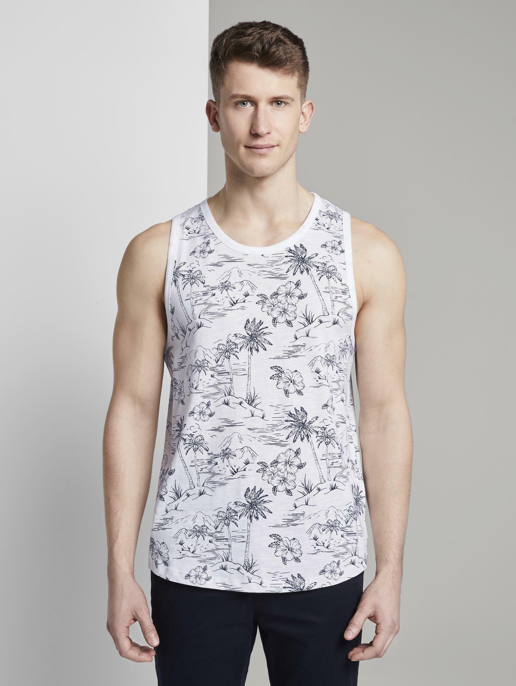 tom tailor denim -  Funktionsshirt Tank-Top mit tropischem Print