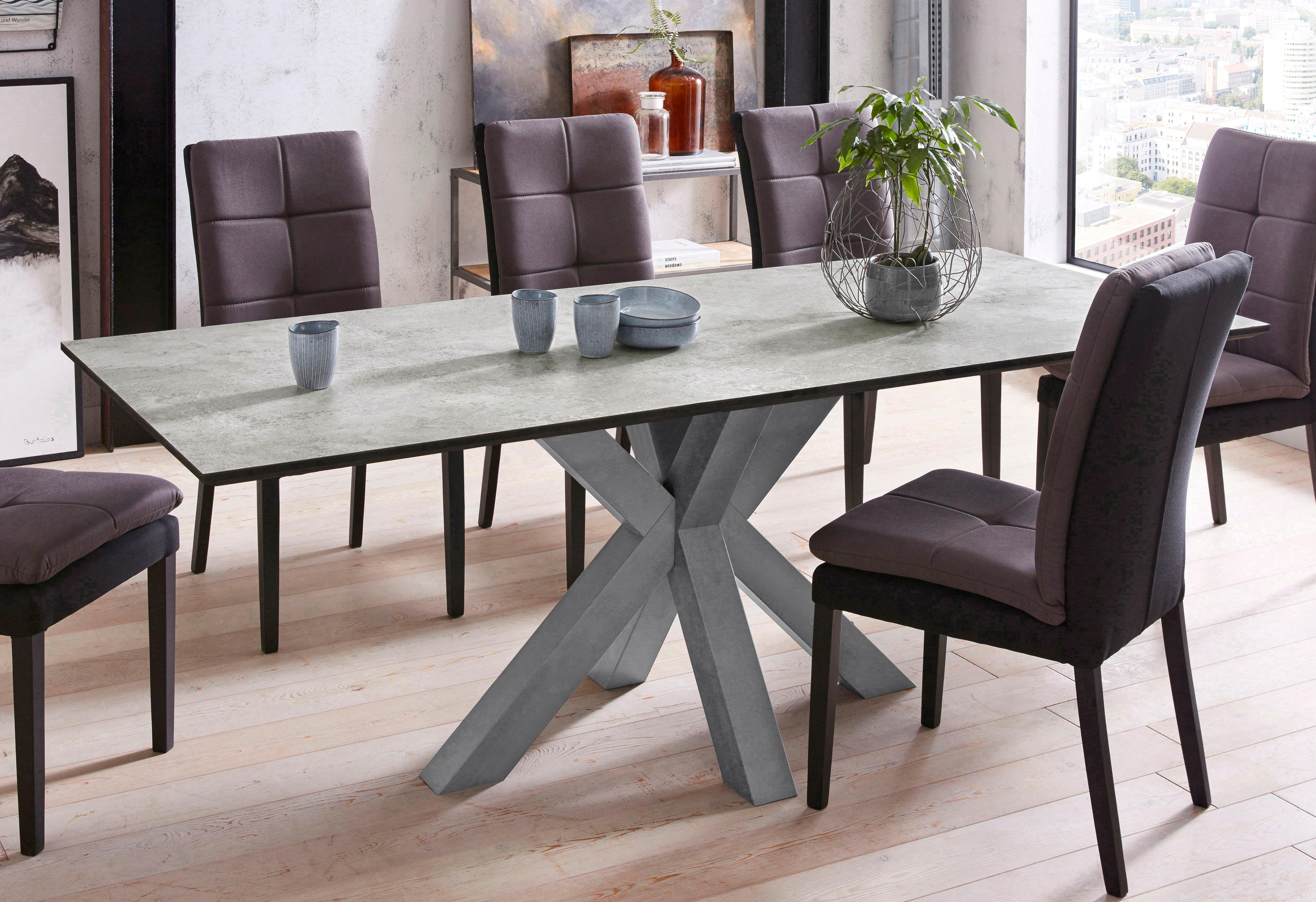Mäusbacher Esstisch, Breite 180 cm grau Esstisch Esstische rechteckig Tische