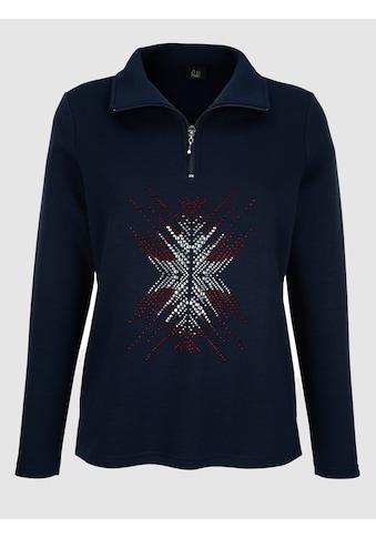 Paola Sweatshirt mit aufwändiger Strasssteindekoration kaufen