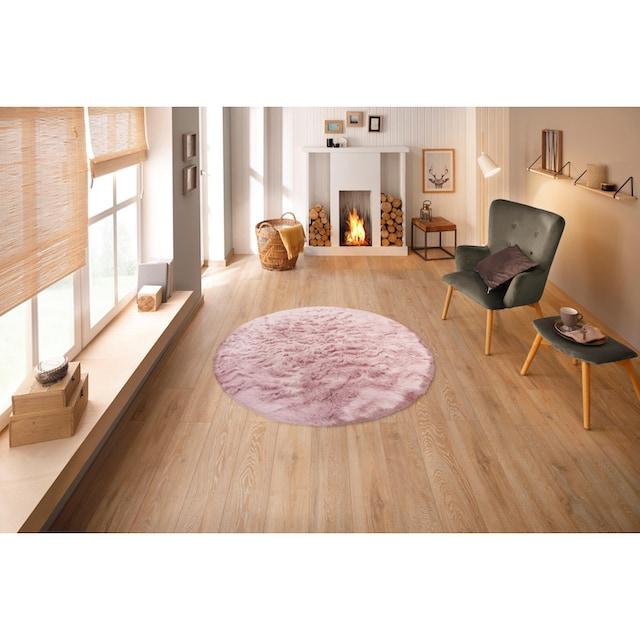 Hochflor-Teppich, »Valeria«, Home affaire, rund, Höhe 60 mm, gedruckt