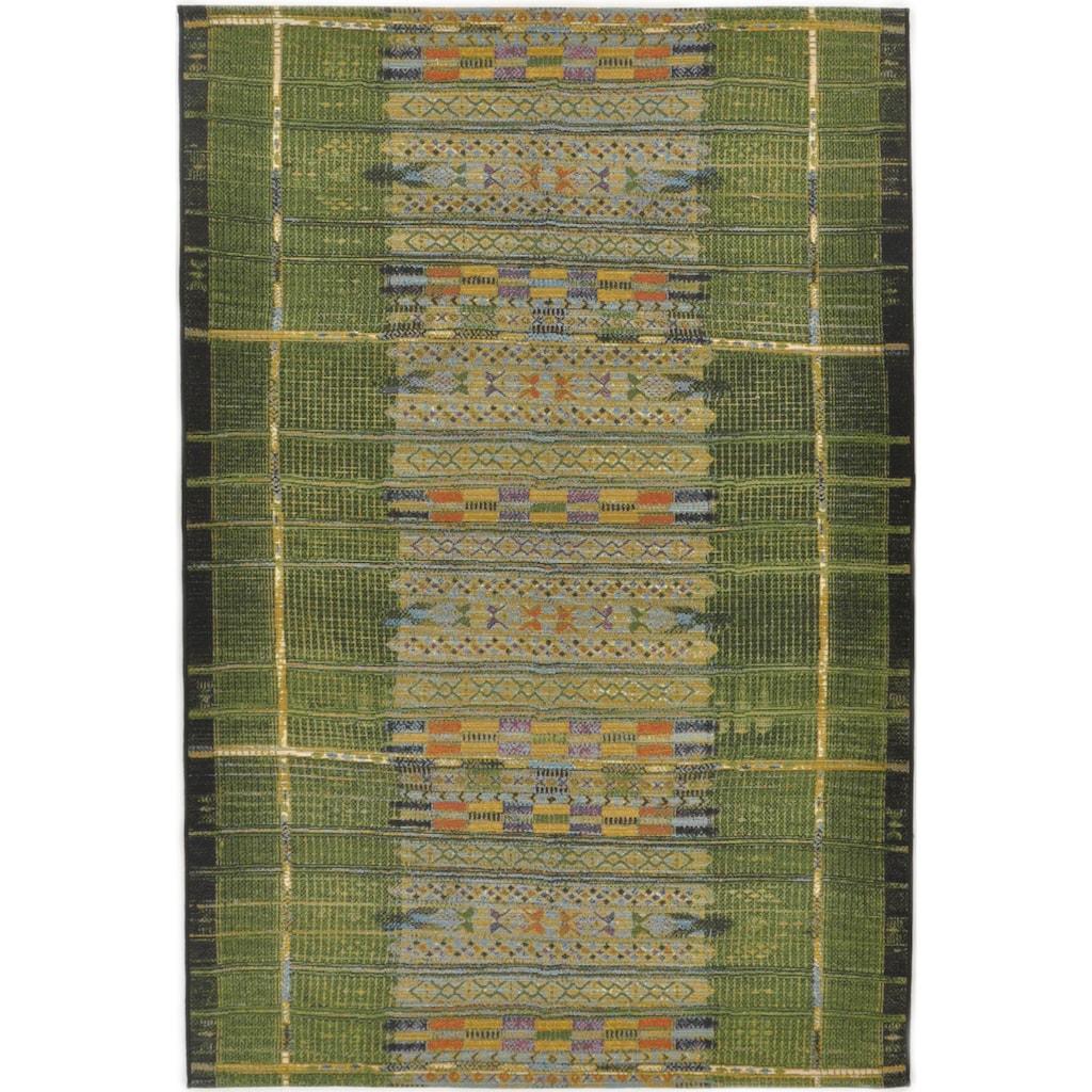 Gino Falcone Teppich »Outdoor-Africa 38«, rechteckig, 5 mm Höhe, Flachgewebe, In- und Outdoor geeignet, Wohnzimmer