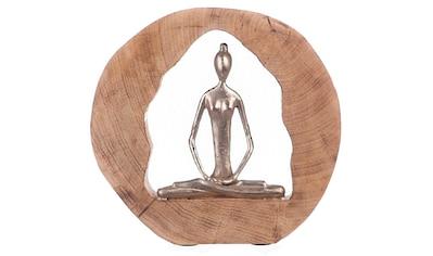 GILDE Dekofigur »Skulptur Health, silberfarben/natur«, Dekoobjekt, Höhe 27,... kaufen