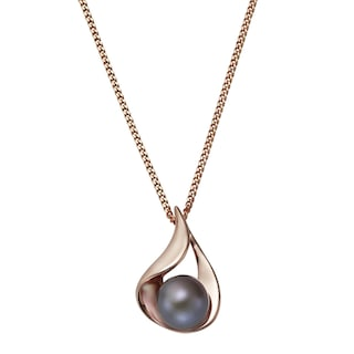 Zeeme Anhänger mit Kette »925 Sterling Silber Perle grau« online bestellen | BAUR