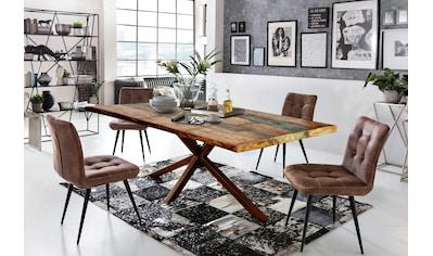 SIT Esstisch »Tops&Tables«, mit Tischplatte aus Altholz mit Farbresten kaufen
