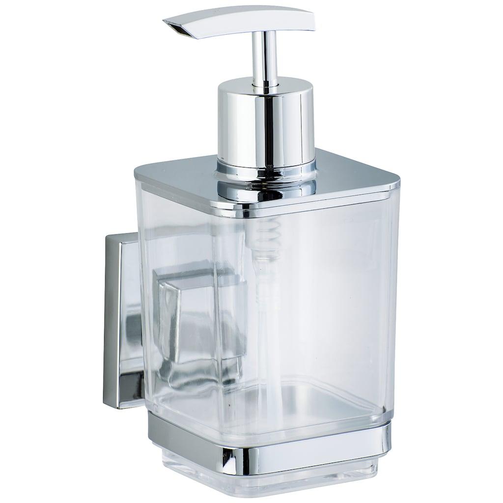 WENKO Seifenspender »Vacuum-Loc Quadro«, Befestigen ohne bohren