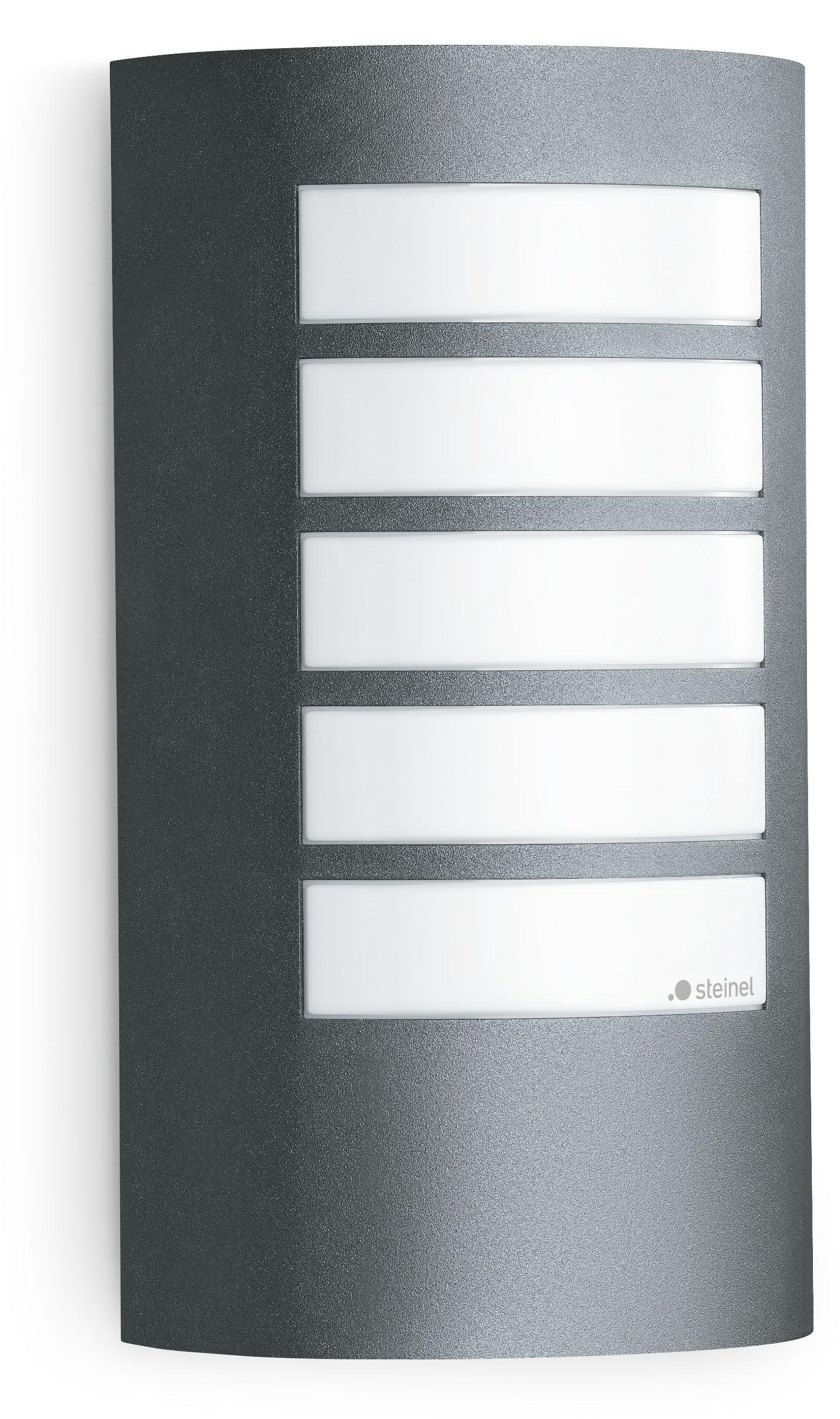 steinel Außen-Wandleuchte L 12, E27, manuell per Schalter ein- und ausstellbar