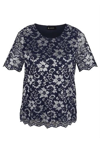 m. collection Spitzenshirt in zweifarbiger Ausarbeitung kaufen