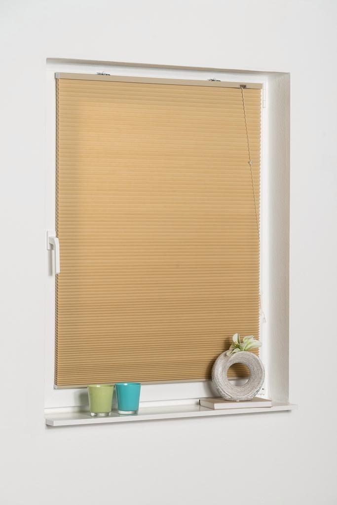 Plissee Klemmfix Wabenplissee K-HOME Lichtschutz ohne Bohren freihängend | Heimtextilien > Jalousien und Rollos > Plissees | Braun | K-Home