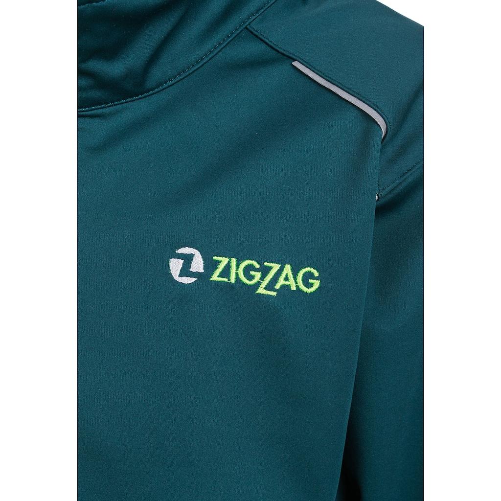 ZIGZAG Softshelljacke »SKJOLD W-PRO 8000 WATERPROOF«, wasserdicht durch 8000 mm Wassersäule