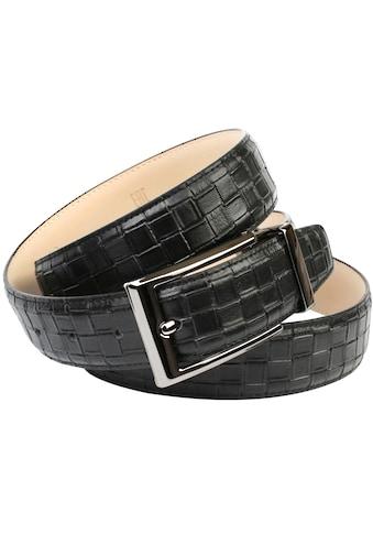 Anthoni Crown Ledergürtel, Eleganter Ledergürtel mit Flecht-Prägung kaufen