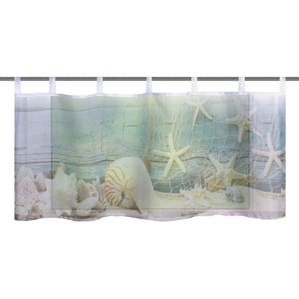 Vision S Scheibengardine »MUSALIA«, HxB: 45x120, Cafehaus Voile Digitaldruck