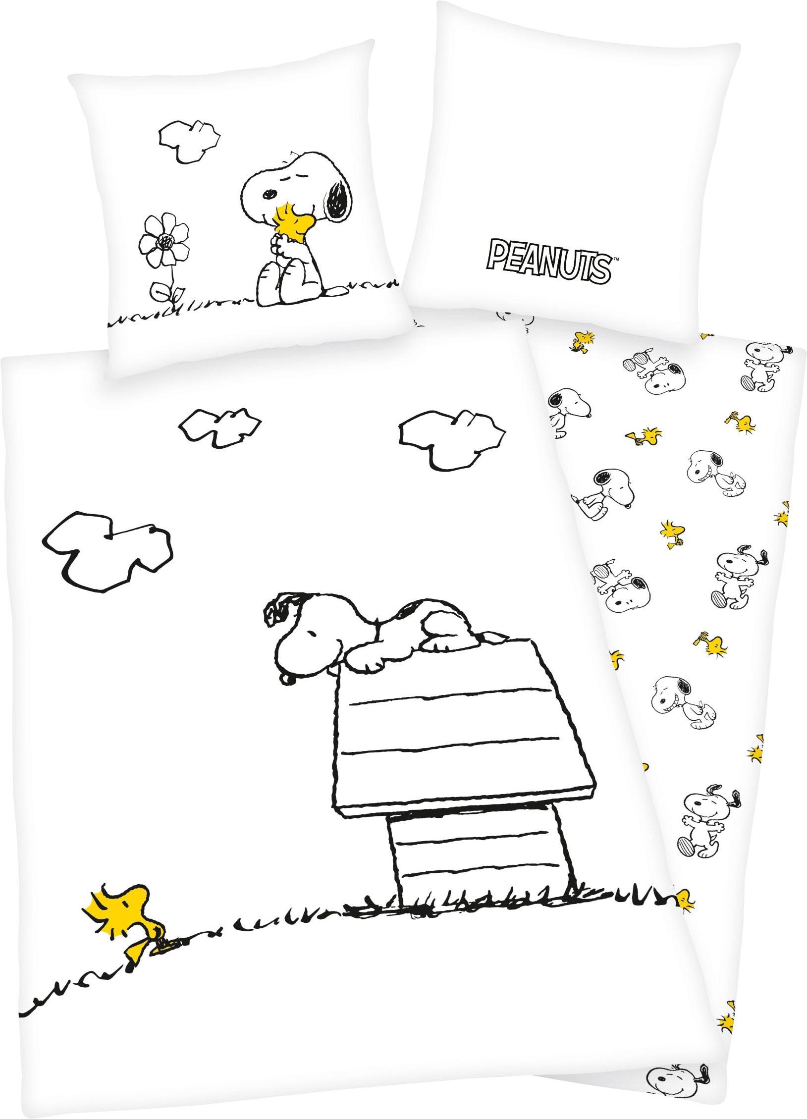 PEANUTS Wendebettwäsche Peanuts, mit tollem Peanuts Motiv weiß Bettwäsche 135x200 cm nach Größe Bettwäsche, Bettlaken und Betttücher