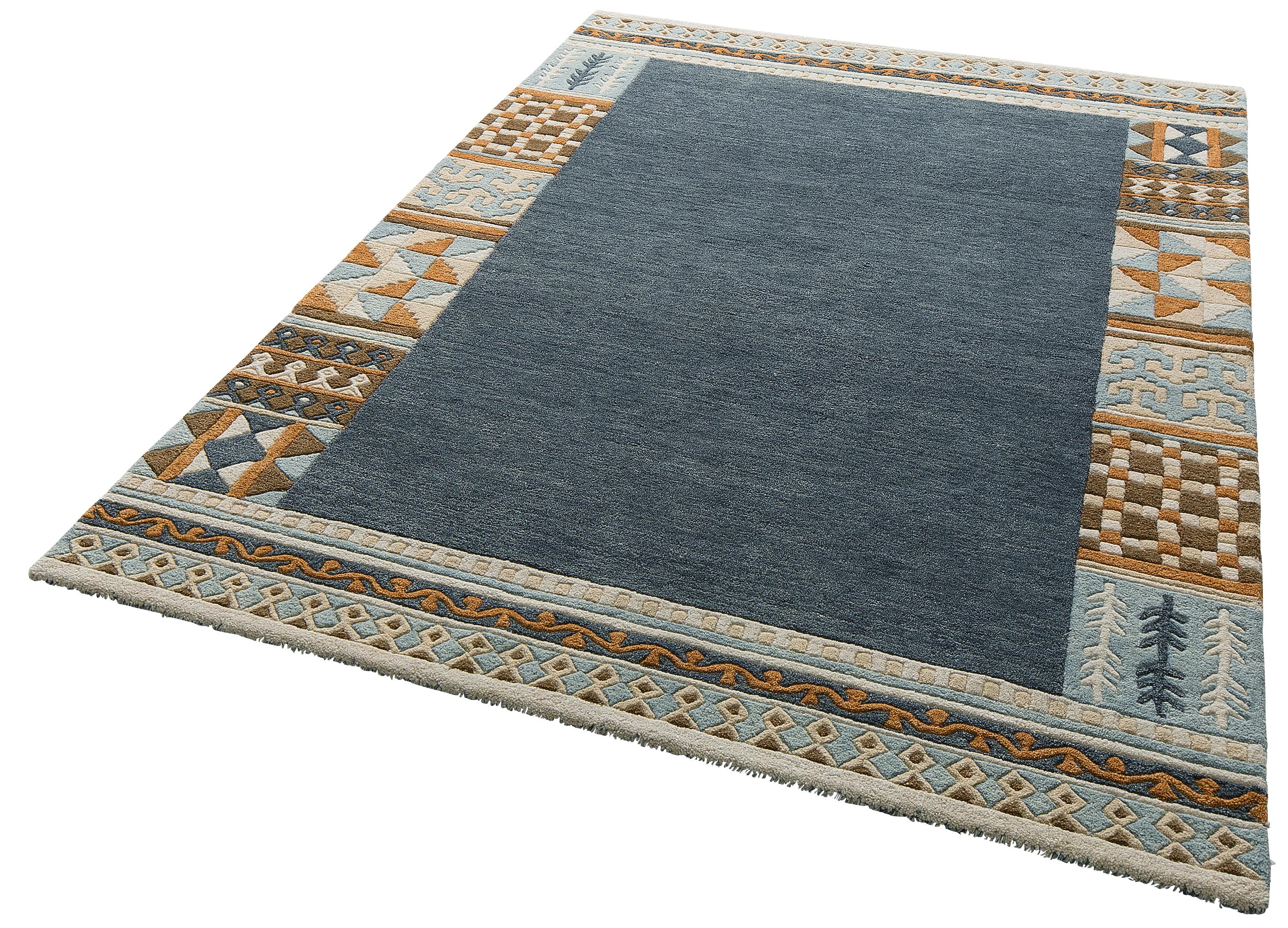 Teppich Nuno Theko Exklusiv rechteckig Höhe 14 mm handgetuftet