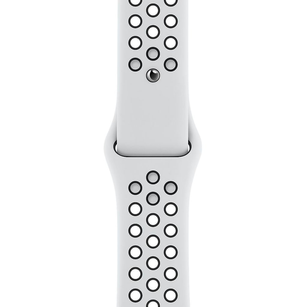 Apple Watch »Nike Series 6 GPS + Cellular, Aluminiumgehäuse mit Nike Sportarmband 40mm« (, Watch OS, inkl. Ladestation (magnetisches Ladekabel)
