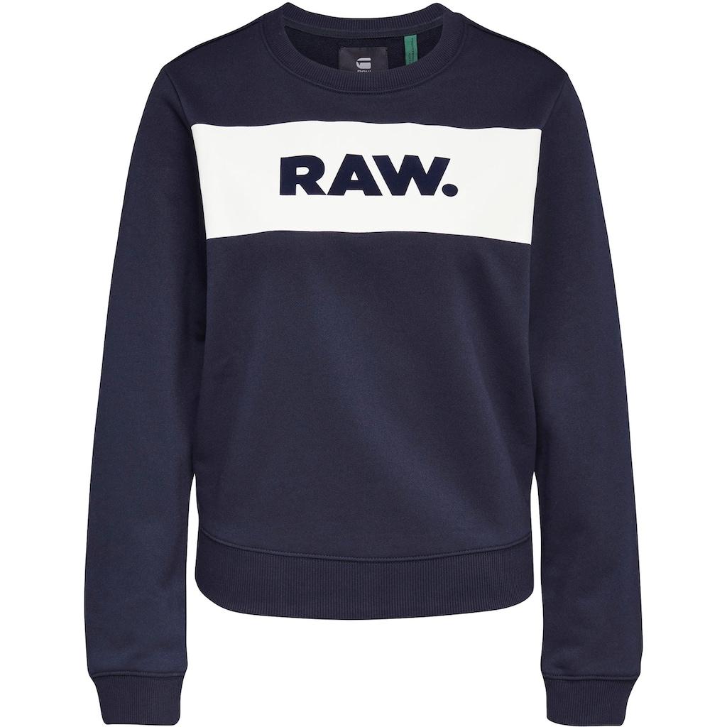 G-Star RAW Sweatshirt »Xzula Panel Raw GR Sweater«, mit G-Star Grafik auf der Brust