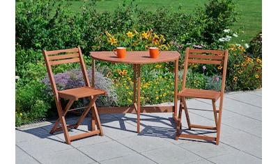 MERXX Gartenstuhl »Porto«, (2er Set), Eukalyptusholz, klappbar, braun kaufen