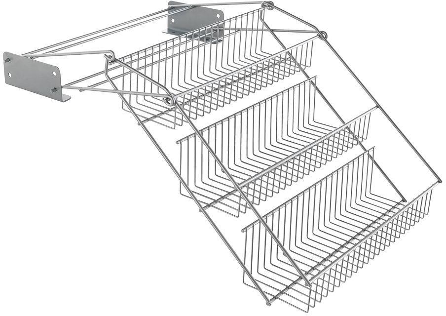 Metaltex Gewürzregal Up & Down, 3 Etagen silberfarben Gewürzständer Kochen Backen Haushaltswaren Regale