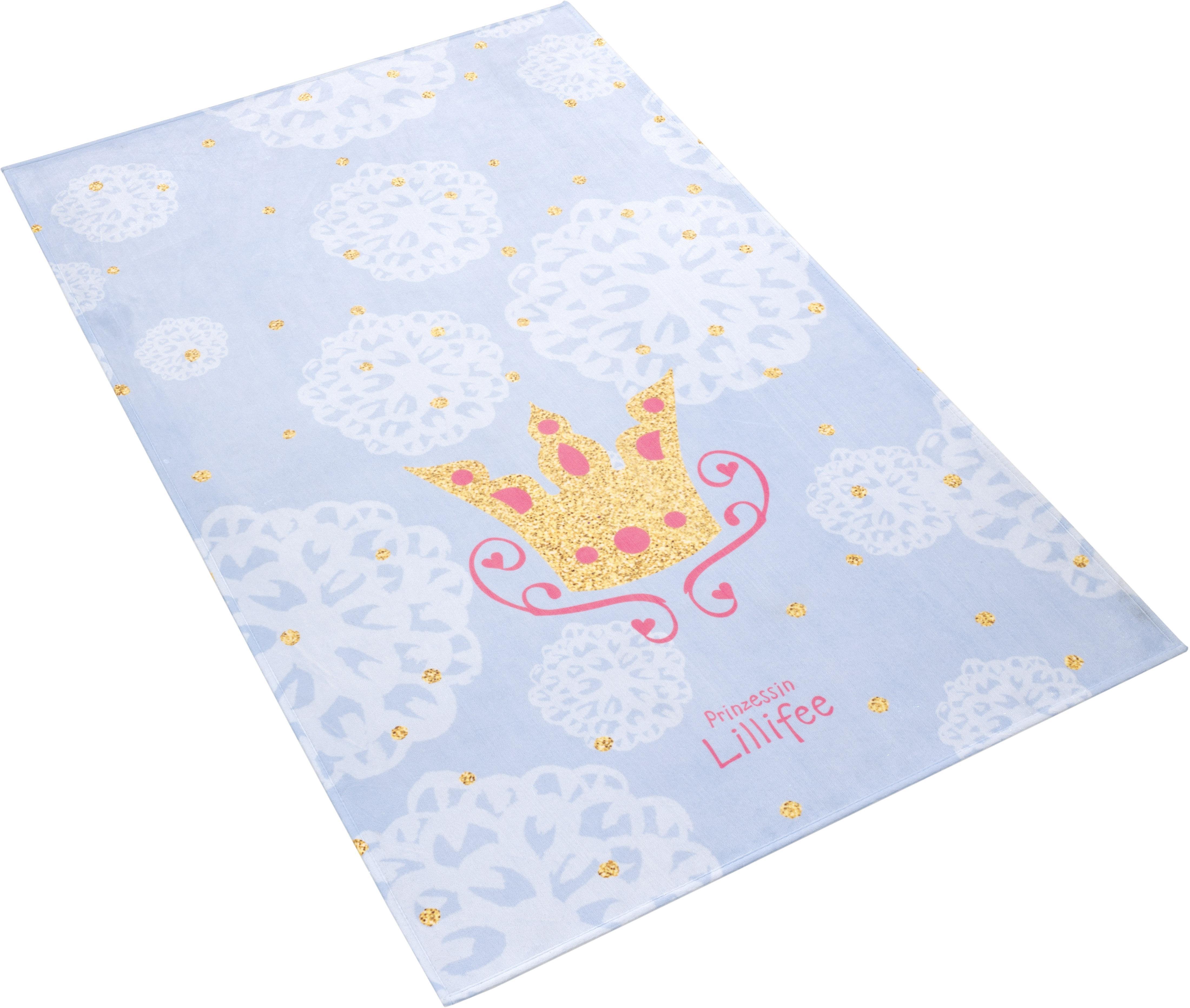 Kinderteppich LI-114 Prinzessin Lillifee rechteckig Höhe 6 mm gedruckt