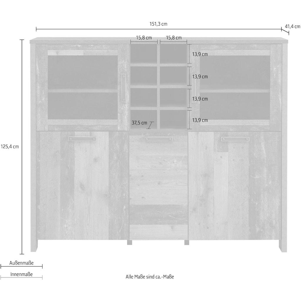 FORTE Highboard, Breite 151 cm