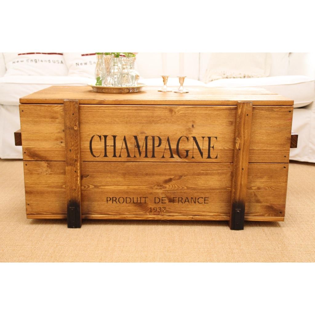 "Uncle Joe´s Truhentisch »""Champagne""«, im Vintage-Look"