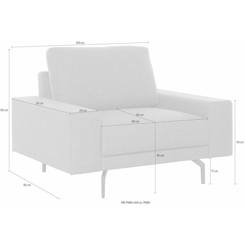 hülsta sofa Sessel »hs.450«, wahlweise in Stoff oder Leder, mit kubischer Armlehne
