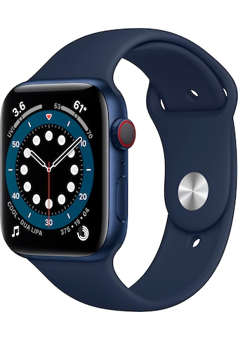 Apple Watch »Series 6 GPS + Cellular, Aluminiumgehäuse mit Sport Loop 44mm« (, Watch OS 6, inkl. Ladestation (magnetisches Ladekabel) kaufen