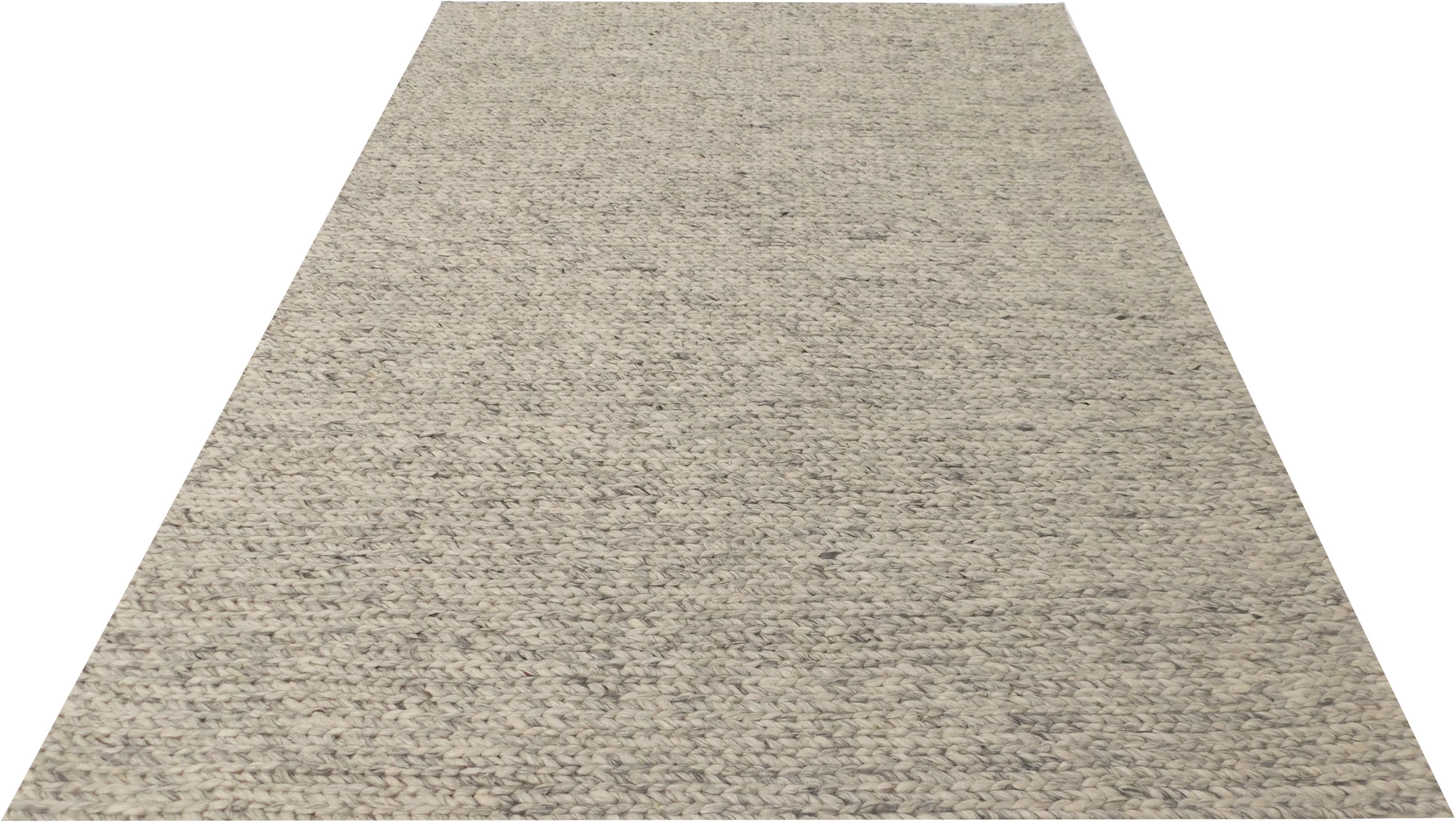 LeGer Home by Lena Gercke Teppich Sunita, rechteckig, 14 mm Höhe, In moderner Strickoptik, Wohnzimmer grau Esszimmerteppiche Teppiche nach Räumen