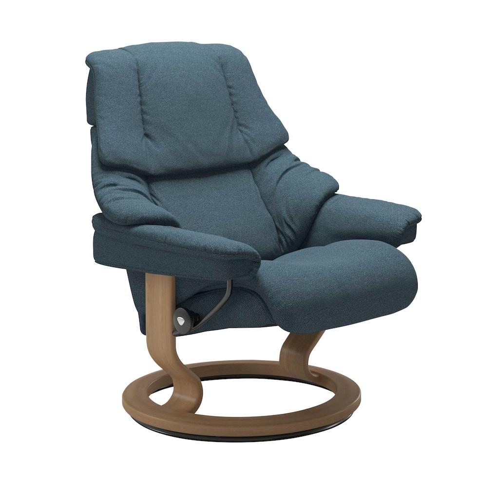 Stressless® Relaxsessel »Reno«, mit Hocker, mit Classic Base, Größe S, M & L, Gestell Eiche