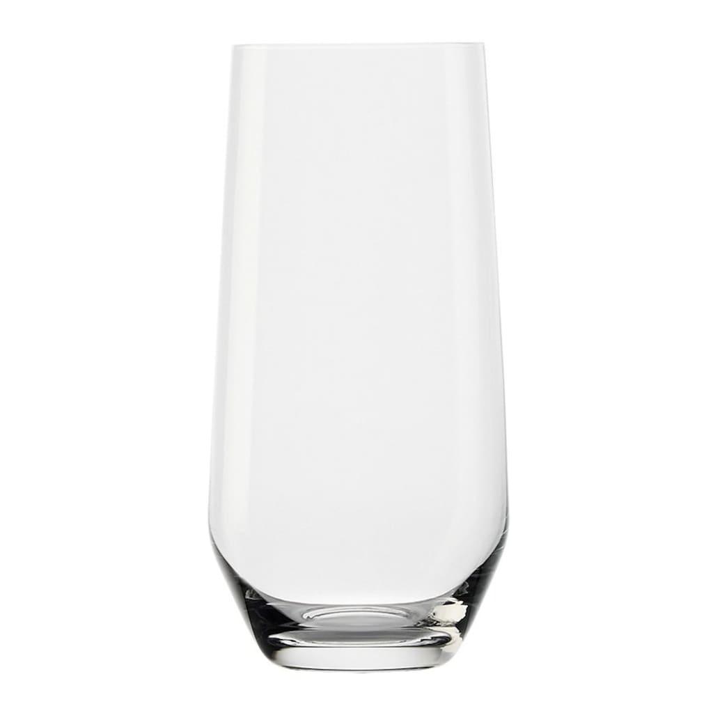 Stölzle Longdrinkglas »REVOLUTION«, (Set, 6 tlg.), Maschinen-Zieh-Verfahren, 6-teilig