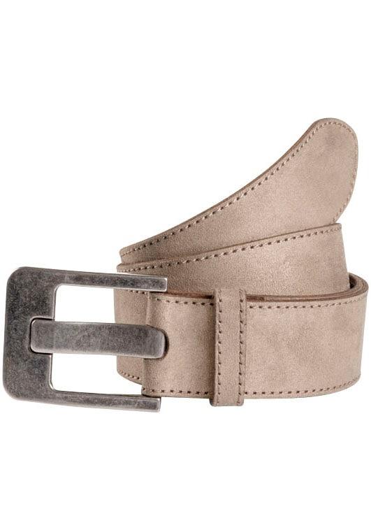TOM TAILOR Ledergürtel, weiche Oberfläche braun Damen Ledergürtel Gürtel Accessoires