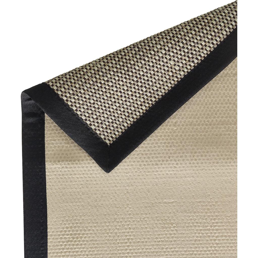 Dekowe Sisalteppich »Brasil«, rechteckig, 6 mm Höhe, Flachgewebe, Obermaterial: 100% Sisal, mit Bordüre, Wohnzimmer